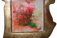 98_2015_Red-Octopus-framed-in-gold_35x35-unfoermig